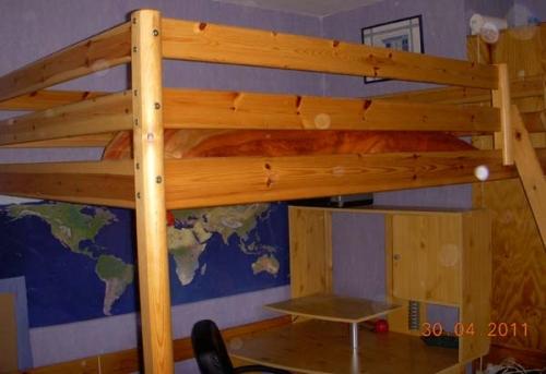 plan de montage lit mezzanine 2 personnes. Black Bedroom Furniture Sets. Home Design Ideas